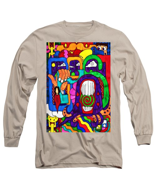 Long Sleeve T-Shirt featuring the drawing Basic by Pennie  McCracken