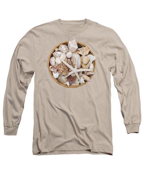 Basket Of Shells Long Sleeve T-Shirt