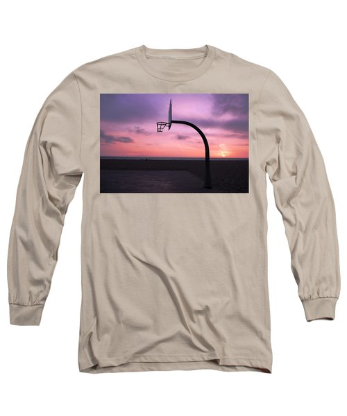 Basketball Court At Sunset Long Sleeve T-Shirt