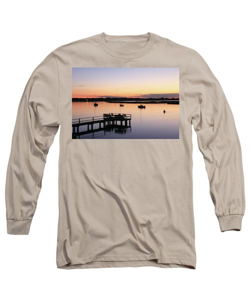 Long Sleeve T-Shirt featuring the photograph Bass River Before Sunrise by Roupen  Baker
