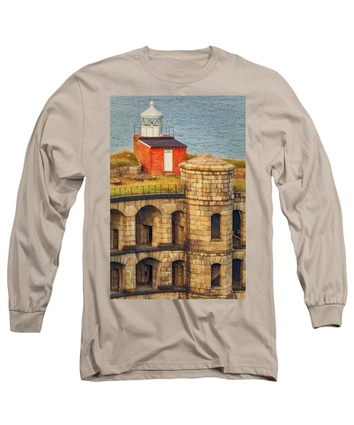 Long Sleeve T-Shirt featuring the photograph Battery Weed At Fort Wadsworth Nyc by Susan Candelario