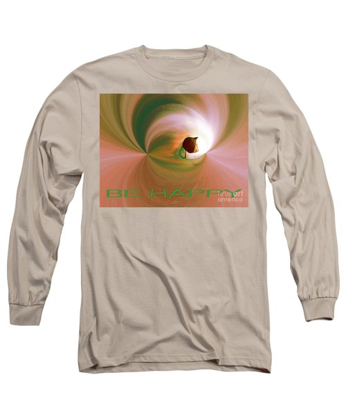 Be Happy Green-rose With Physalis Long Sleeve T-Shirt