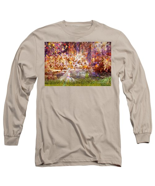 Long Sleeve T-Shirt featuring the digital art Be Still And Know by Dolores Develde
