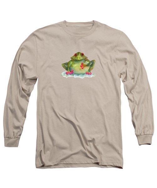 Be Still My Heart Long Sleeve T-Shirt by Amy Kirkpatrick