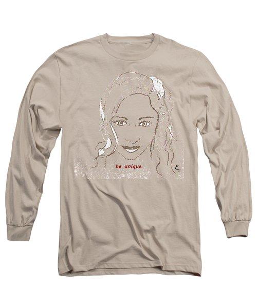 Be Unique Long Sleeve T-Shirt by Vesna Martinjak
