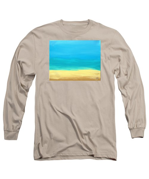 Beach Abstract Long Sleeve T-Shirt by D Hackett