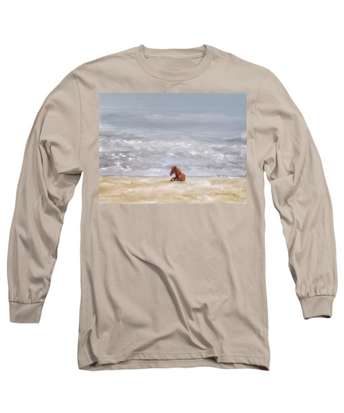 Long Sleeve T-Shirt featuring the photograph Beach Baby by Lois Bryan