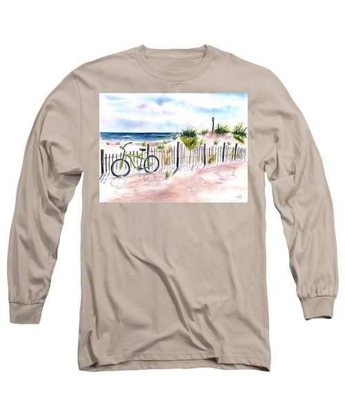 Beach Bike At Seaside Long Sleeve T-Shirt