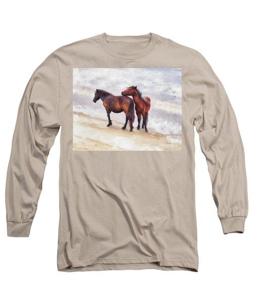 Long Sleeve T-Shirt featuring the photograph Beach Buddies by Lois Bryan
