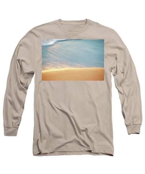Beach Caress Long Sleeve T-Shirt by Glenn Gemmell