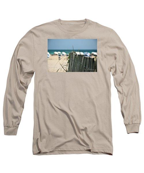 Beach Fence Long Sleeve T-Shirt by Edgar Torres
