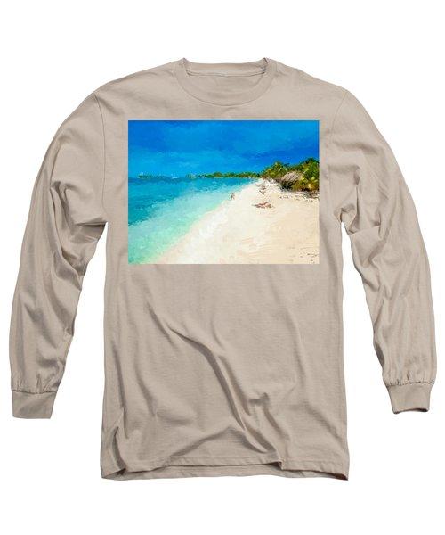 Beach Holiday  Long Sleeve T-Shirt by Anthony Fishburne