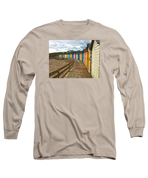 Beach Huts Long Sleeve T-Shirt by RKAB Works