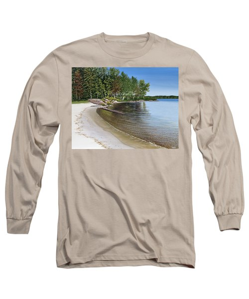 Beach In Muskoka Long Sleeve T-Shirt