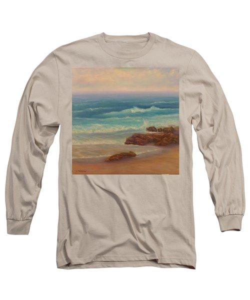 Beach Painting Beach Rocks  Long Sleeve T-Shirt