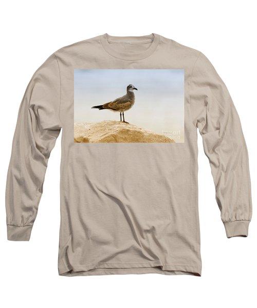 Long Sleeve T-Shirt featuring the photograph Beach Pose by Deborah Benoit
