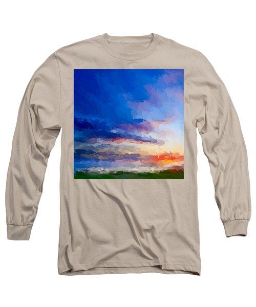Beach Sunset Long Sleeve T-Shirt by Anthony Fishburne
