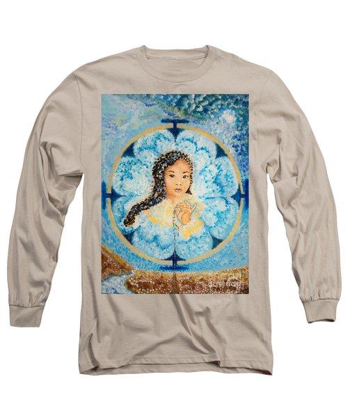 Flying Lamb Productions.        Beads Of Life Long Sleeve T-Shirt