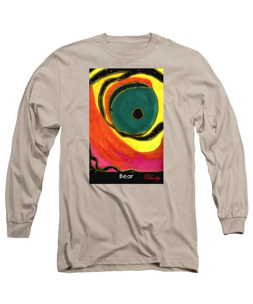 Long Sleeve T-Shirt featuring the painting Bear by Clarity Artists