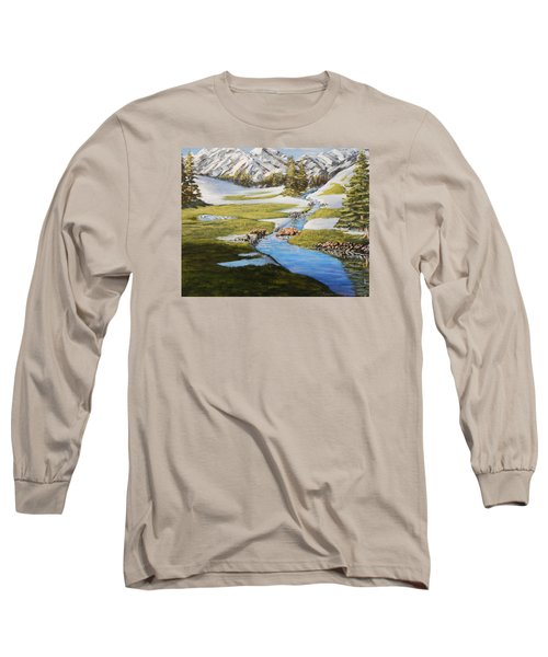 Bear Crossing Long Sleeve T-Shirt by Ruanna Sion Shadd a'Dann'l Yoder