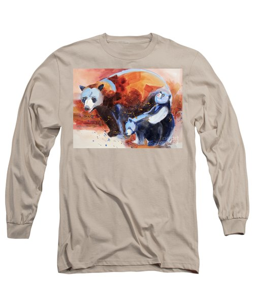 Bear Family Outing Long Sleeve T-Shirt by Kathy Braud