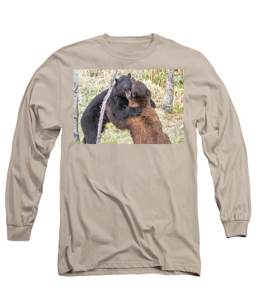 Bear Hug Long Sleeve T-Shirt by Marc Crumpler