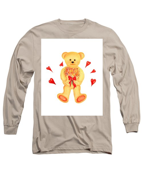 Bear In Love Long Sleeve T-Shirt by Elizabeth Lock
