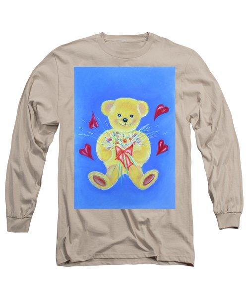 Bear With Flowers Long Sleeve T-Shirt
