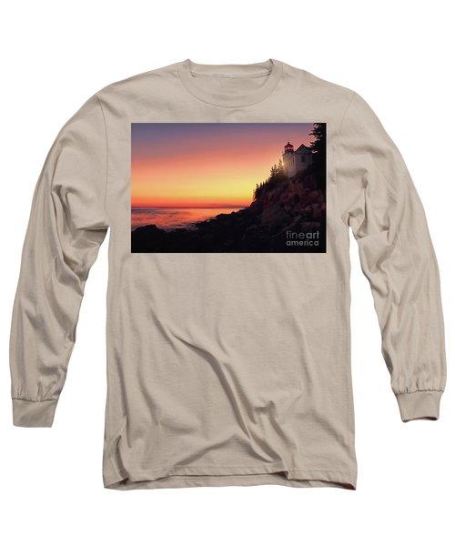 Beautiful Bass Harbor Lighthouse Long Sleeve T-Shirt