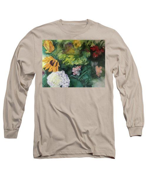 Beautiful Floral Jumble Long Sleeve T-Shirt