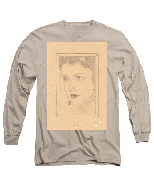 Beautiful Lady Face Long Sleeve T-Shirt