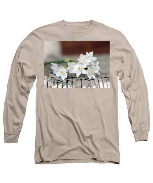 Beautiful Spring Paperwhites Long Sleeve T-Shirt by Carla Parris