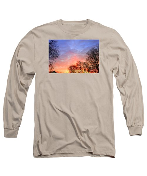 Beautiful Sunrise After Blizzard  Long Sleeve T-Shirt by Yumi Johnson