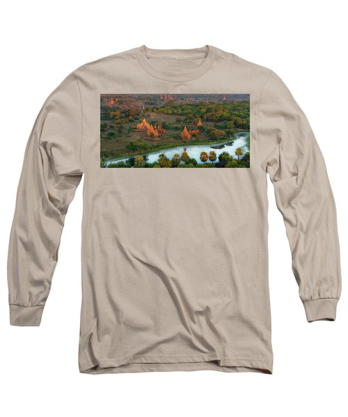 Beautiful Sunrise In Bagan Long Sleeve T-Shirt