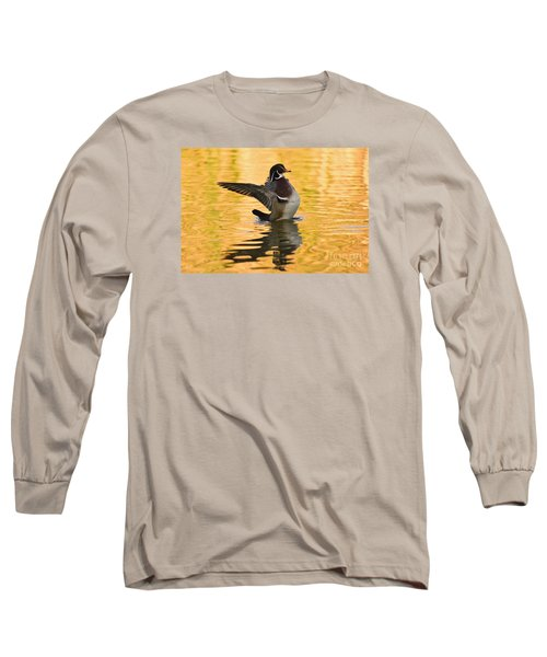 Wood Duck Sunset  Long Sleeve T-Shirt