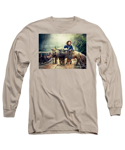 Beauty And The Water Buffalo Long Sleeve T-Shirt