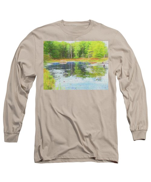 Beaver Pond Reflections Long Sleeve T-Shirt