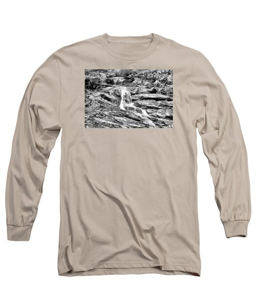 Becky Branch Falls In Black And White Long Sleeve T-Shirt by James Potts