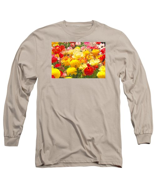 Bed Of Flowers Long Sleeve T-Shirt