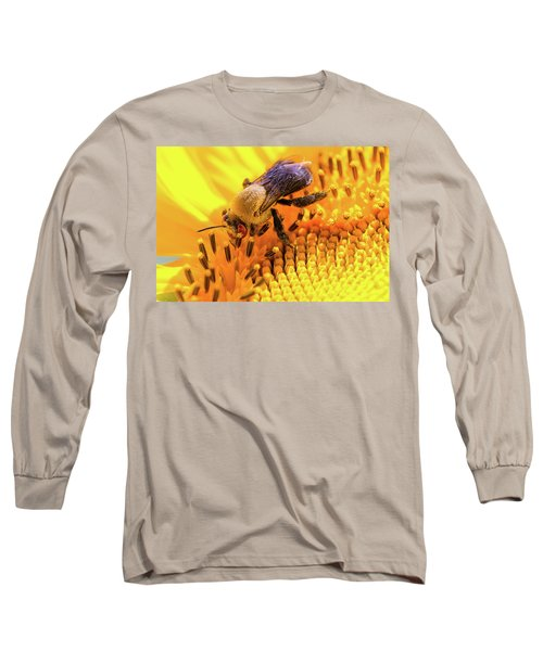 Bee And Sunflower Long Sleeve T-Shirt