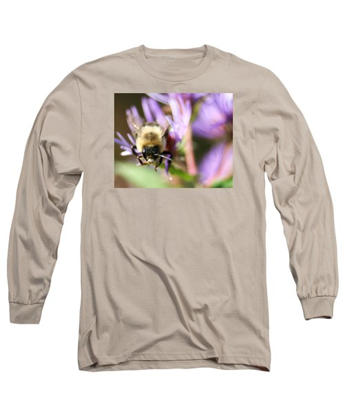 Bee Mustache Long Sleeve T-Shirt