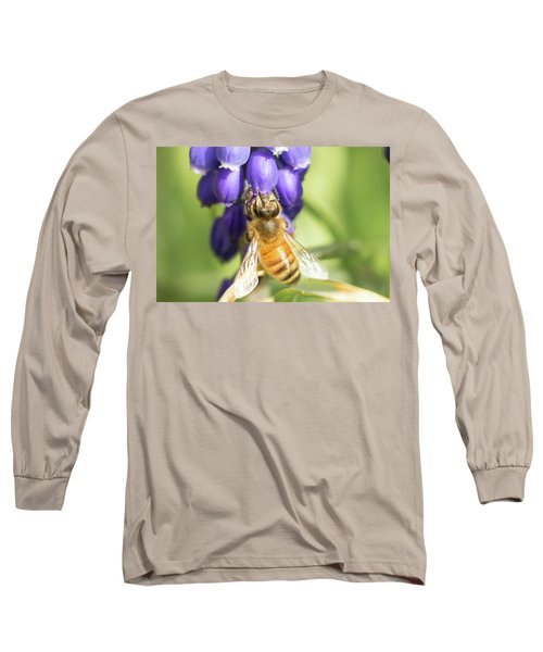 Long Sleeve T-Shirt featuring the photograph Bee Struggles by Brian Hale