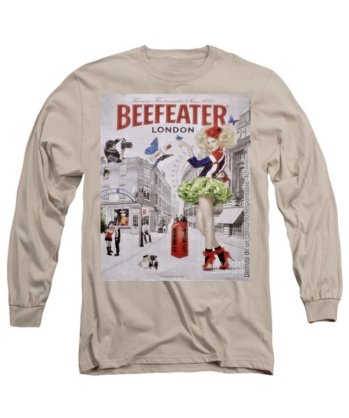 Beefeater Gin Long Sleeve T-Shirt by Mary Machare