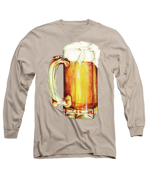 Beer Pattern Long Sleeve T-Shirt by Kelly Gilleran