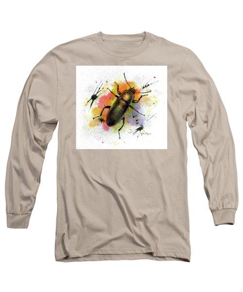 Beetle Illustration Long Sleeve T-Shirt