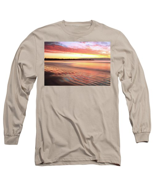 Long Sleeve T-Shirt featuring the photograph Before Sunrise At First Beach by Roupen  Baker