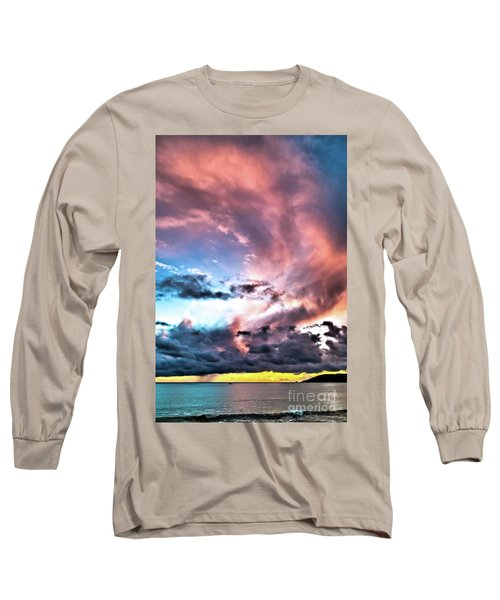 Before The Storm Avila Bay Long Sleeve T-Shirt by Vivian Krug Cotton