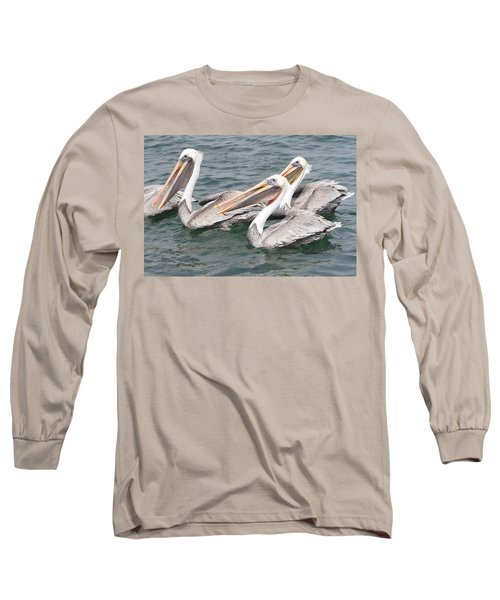 Begging For Food Long Sleeve T-Shirt by Shoal Hollingsworth