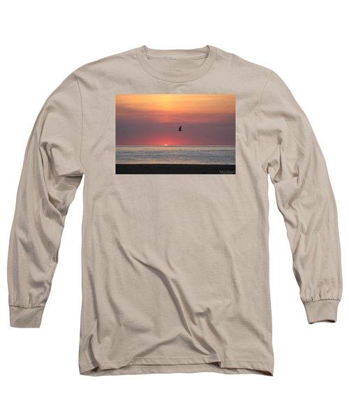 Beginning The Day Long Sleeve T-Shirt by Robert Banach
