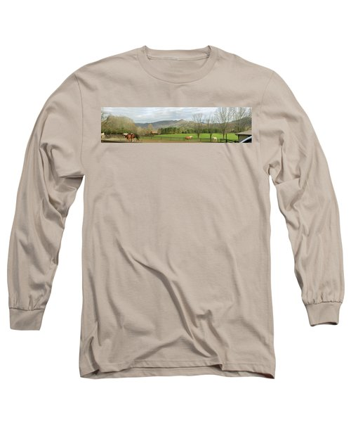 Long Sleeve T-Shirt featuring the photograph Behind The Dillard House Restaurant by Jerry Battle